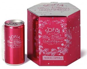 Champagne in a can, SOFIA Champagne, Francis Ford Coppola